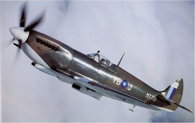 LF VIIIC Spitfire MT719 served with 17 Squadron RAF in Burma 1944-45 - reproduced with thanks from 'Spitfire - Flying Legend' by J Dibbs / T Holmes (Osprey Aviation 1996)