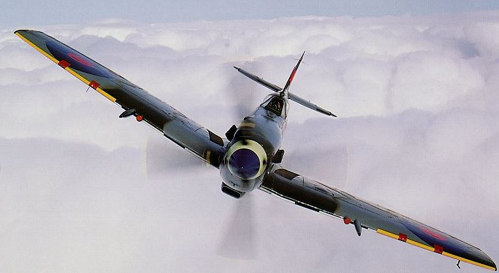 Spitfire LF IXE ML417 (preserved) in markings of 443 'Hornet' Squadron RCAF - reproduced with thanks from 'Spitfire - Flying Legend' by J Dibbs & T Holmes (Osprey Aviation, 1996
